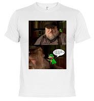 camiseta George RR Martin duendecillo verde - Juego de Tronos en los siete reinos