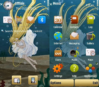 Chii Theme by Yris22 on Nokia 5800 XpressMusic