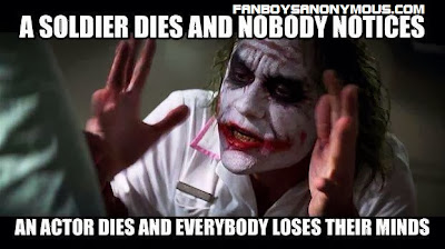 Late Dark Knight Joker Heath Ledger insulted in joke Memes