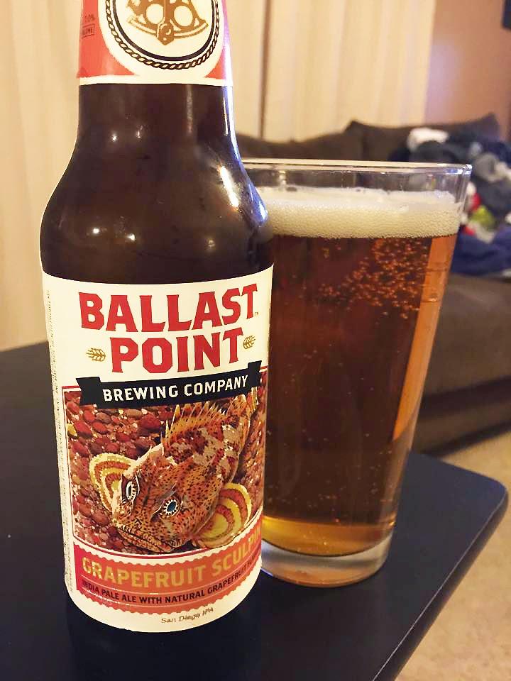 Ballast Point Grapefruit Sculpin IPA 1