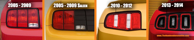 2005 2009 2010 2013 saleen mustang tail light guide tri bar pony identification taillights