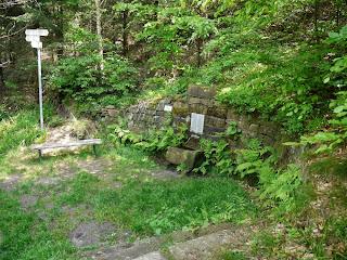 Hildebrand-Brunnen 400m Fußweg unterhalb des Gipfels des Mahlbergs