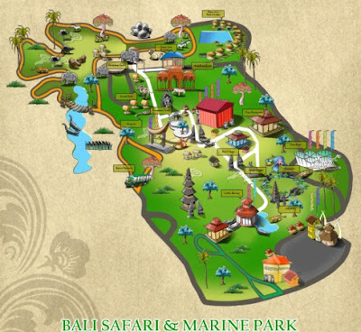 Bali Safari & Marine Park Map