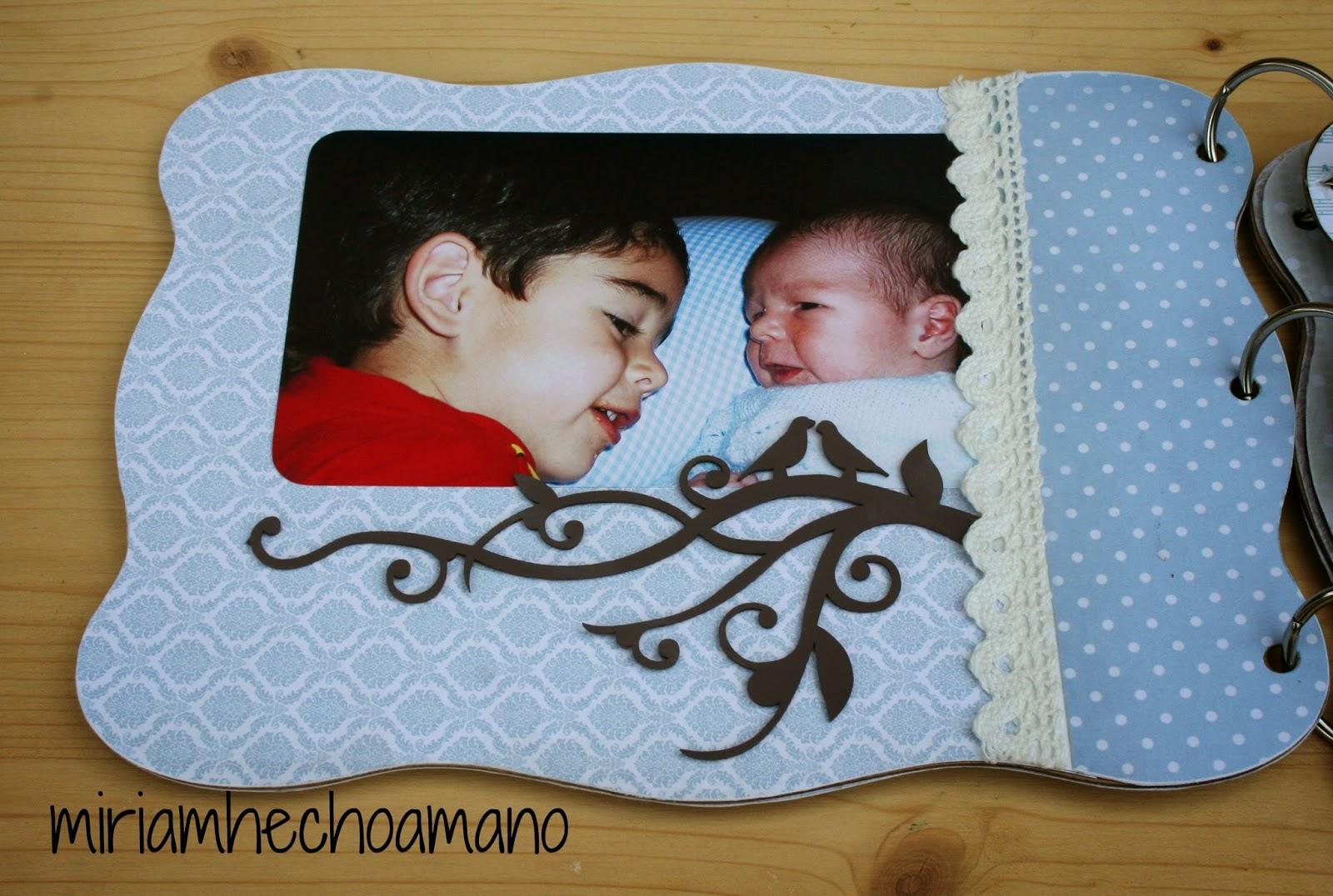 Miriam hecho a mano lbum de bebe para regalar - Como hacer un album de fotos a mano para ninos ...