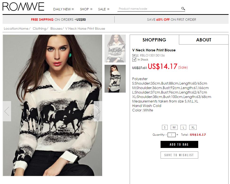 at desenli - siyah beyaz bluz - yurt dışı alışverişi