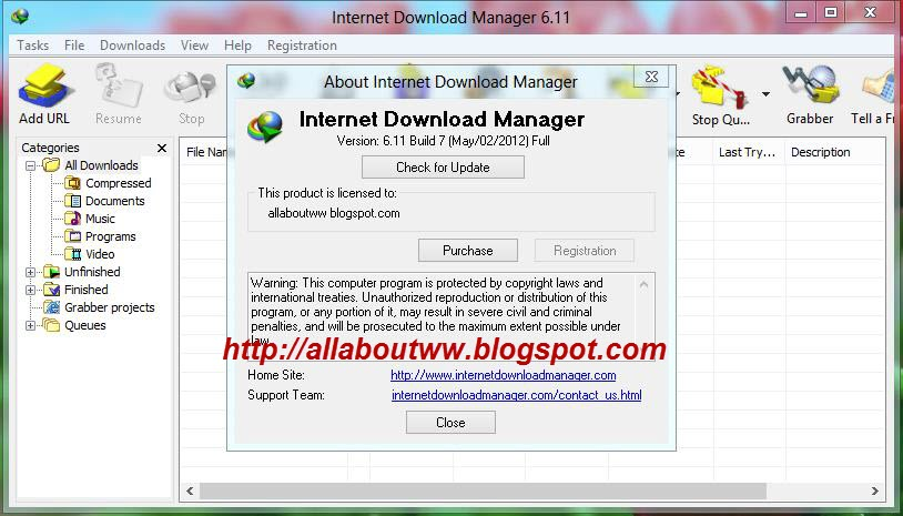 serial number idm 6.11 build 7