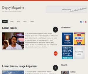 Degoy Magazine Blogger Template