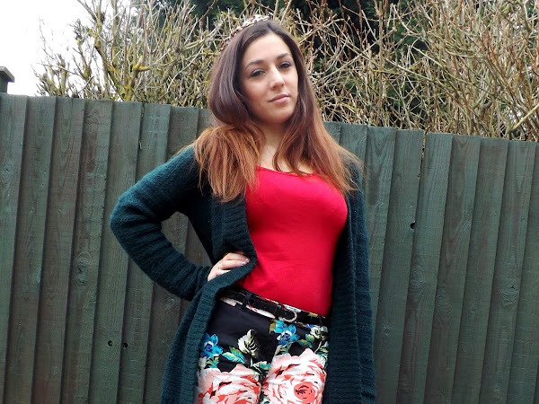 What Cat Wore: Floral Trousers