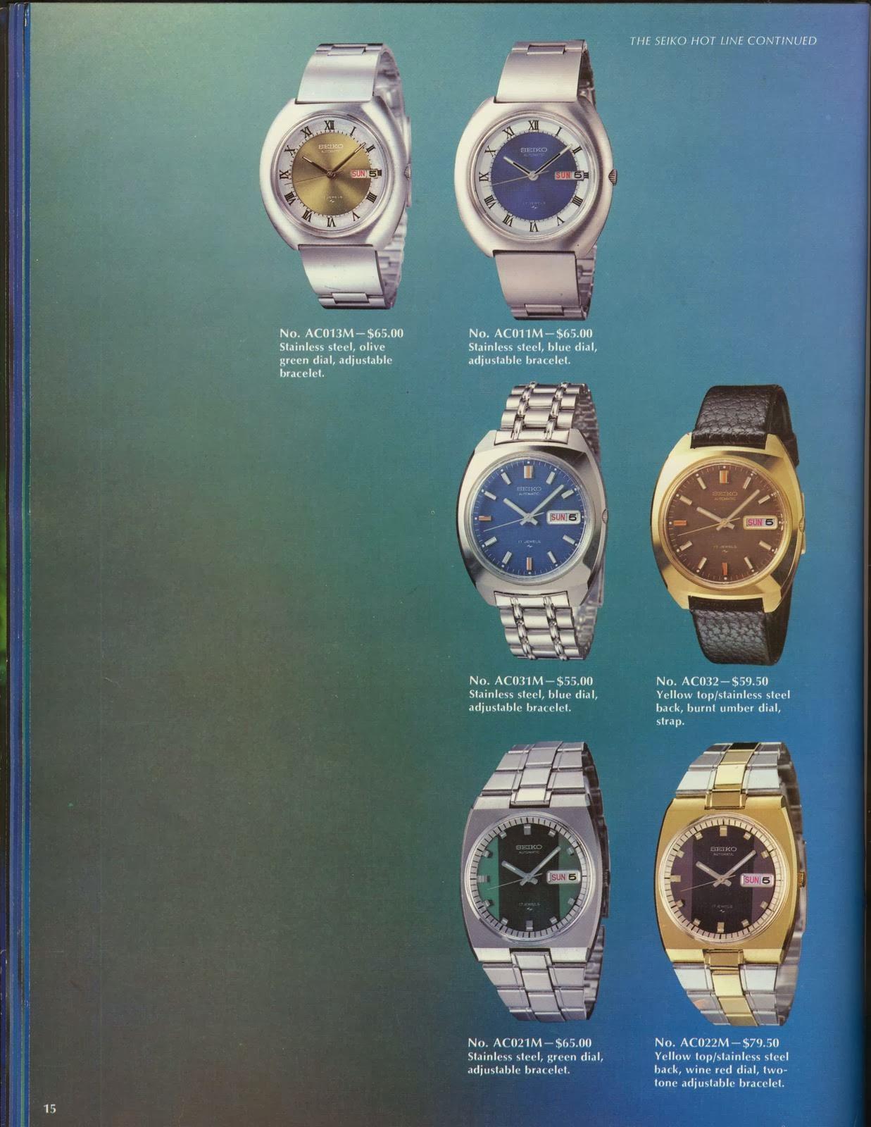 Watch Union: Seiko- Catalog-Vintage