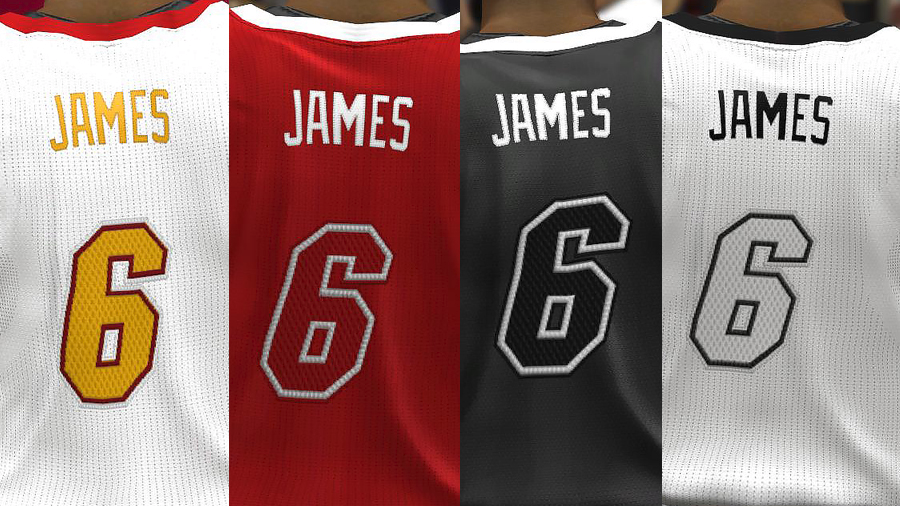 NBA 2K14 Complete Miami Heat Jersey Patch Updated