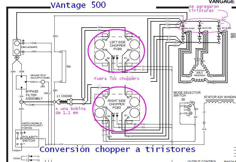 Electronica Para Maquinaria  Moto Soldador Y Generador El U00e9ctrico Lincoln Vantage 500