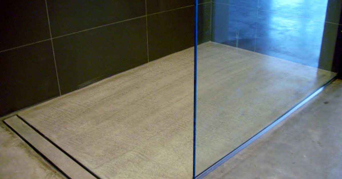 MODE CONCRETE: Modern Open Concept Bathroom   Featuring A Concrete Floor, A  Curbless Shower And A Linear Drain   Created By MODE CONCRETE