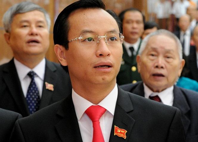 Tân Bí thư Đà Nẵng Nguyễn Xuân Anh (giữa) tại Đại hội Đảng bộ TP Đà Nẵng lần thứ XXI diễn ra từ ngày 15-17/10