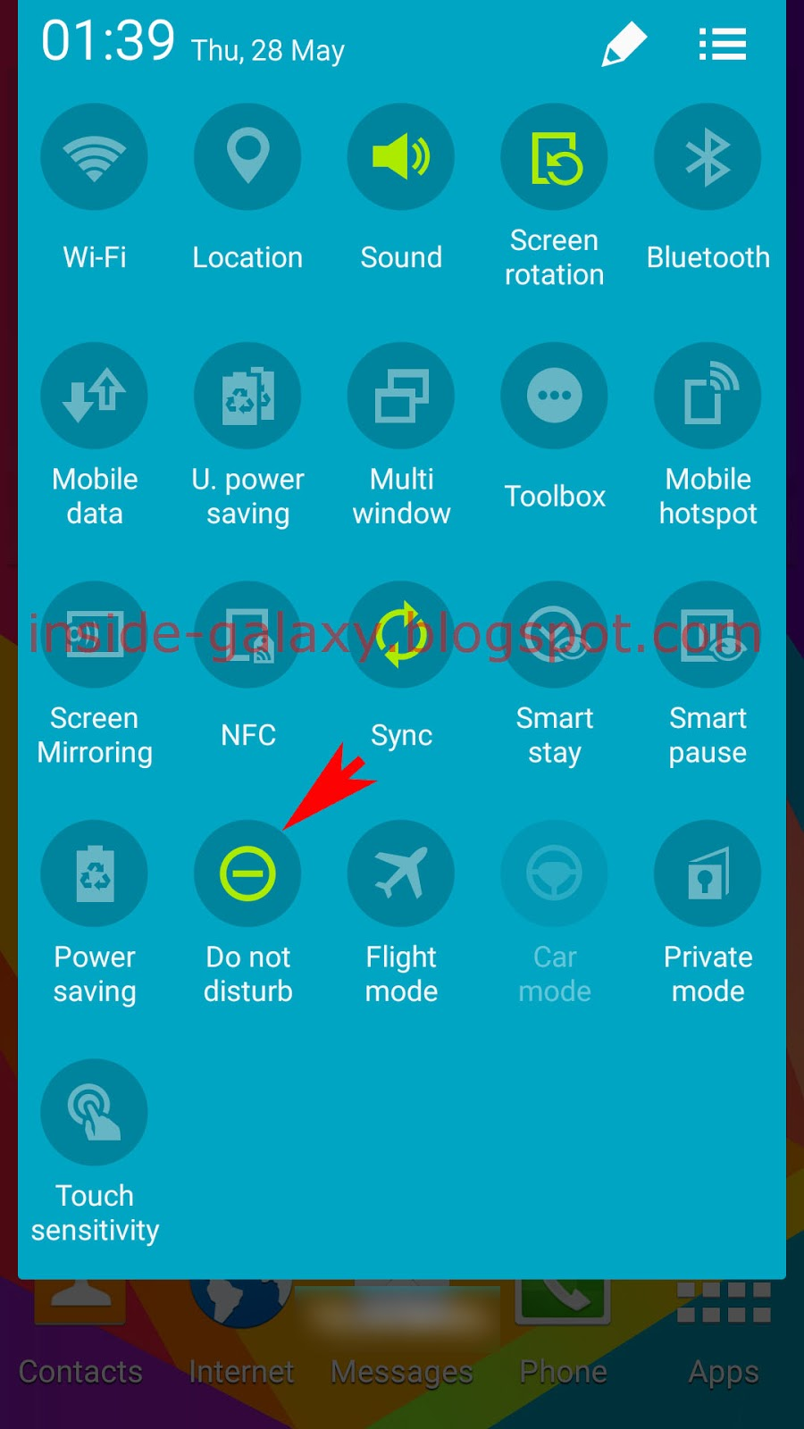 Samsung Galaxy S5: How to Manually Turn Off Do Not Disturb Feature