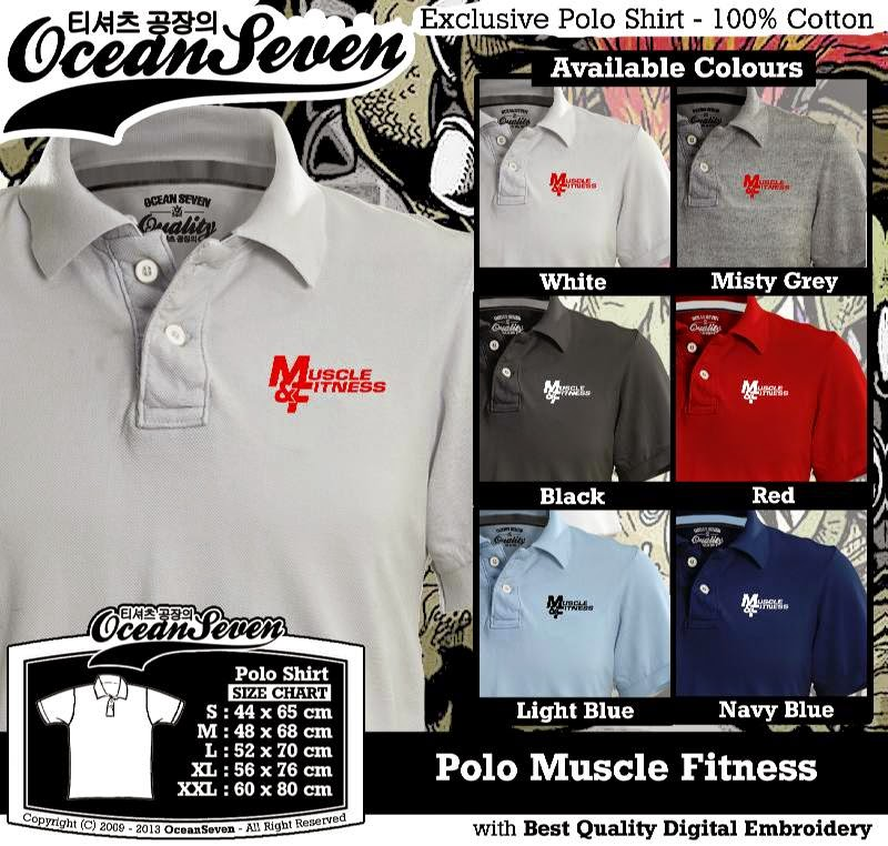 Kaos Polo Muscle Fitness