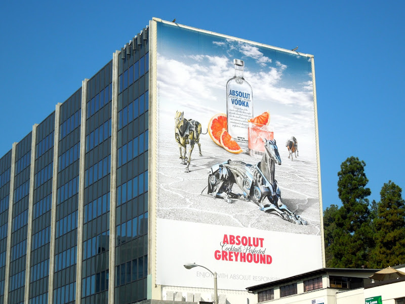 Giant Absolut Greyhound Vodka billboard