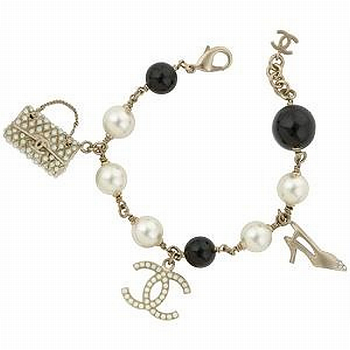 Chanel pearl and charm bracelet