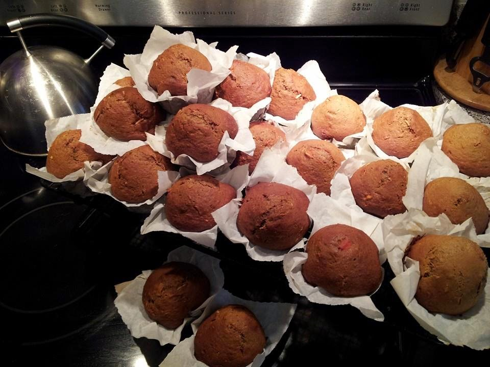muffins, baking, home baking