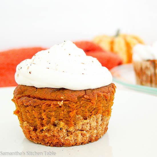 Lightened Up Pumpkin Pie Cupcakes