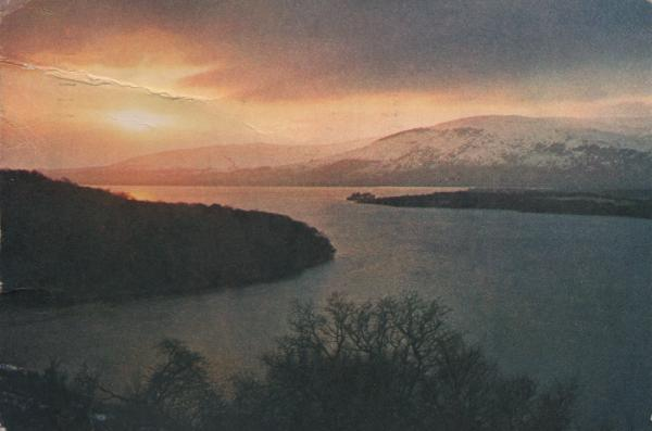 winter sunset at Loch Lomond