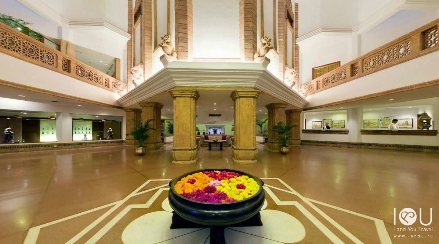 the interiors of the hotel reflect the traditional architecture of temples in odisha and the walls and lobby are decorated with finely carved copies of the