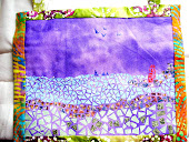 """Mosaic Lighthouse"" art quilt"