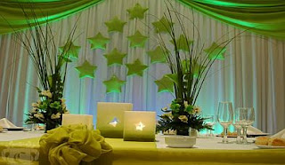 Wedding Decor, lounges decorated in Green