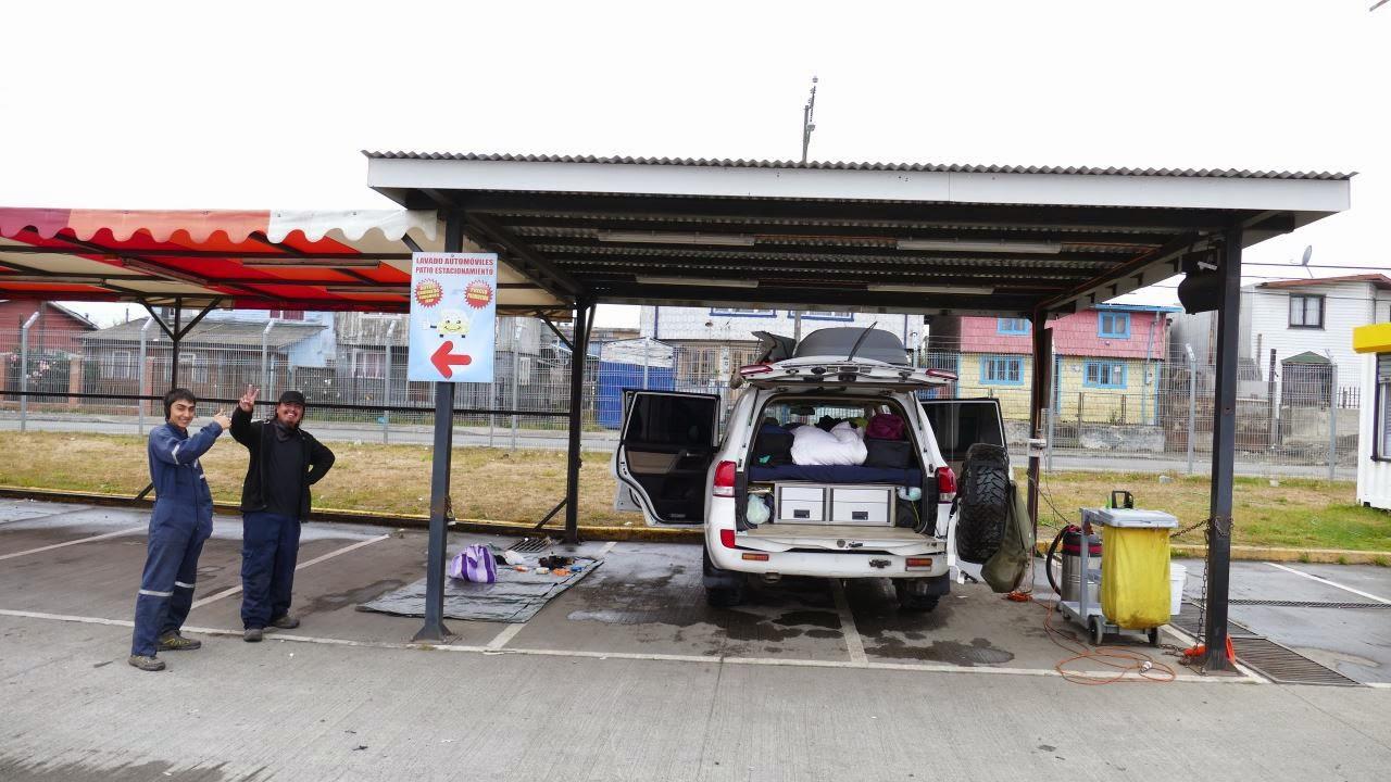 Fahrzeug Komplettreinigung auf der Panamerikana-Reise