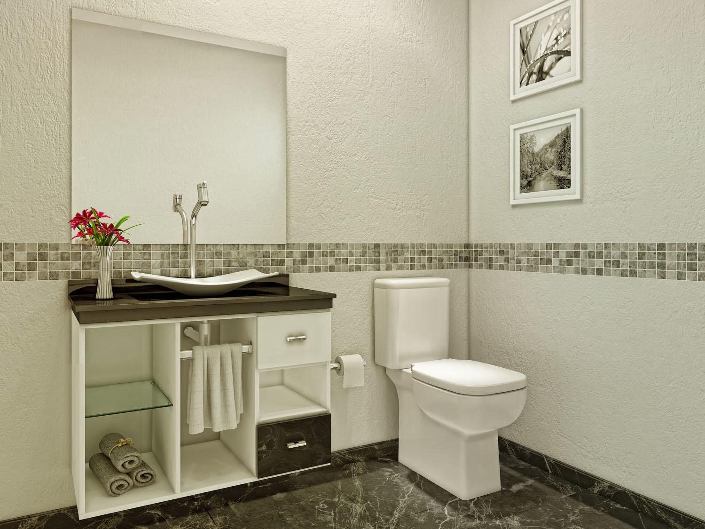 gabinete para banheiro com cuba e espelho 3 pecassimples 1 porta 1  #A62537 1500x1125 Banheiro Com Vaso Sanitario Azul