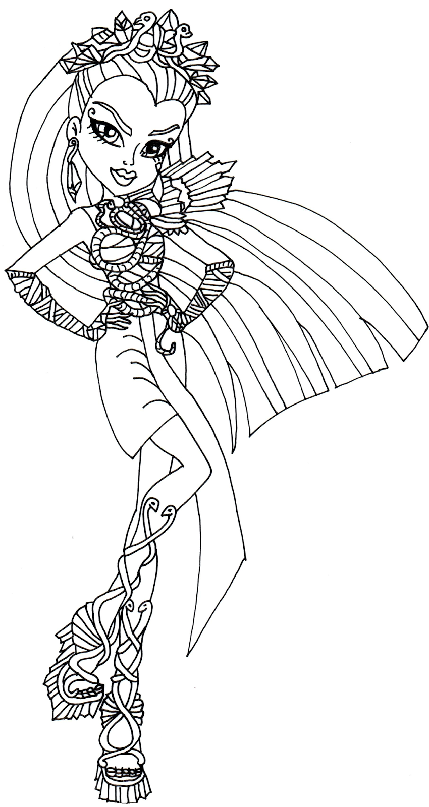 Free printable monster high coloring pages nefera de nile for Print monster high coloring pages