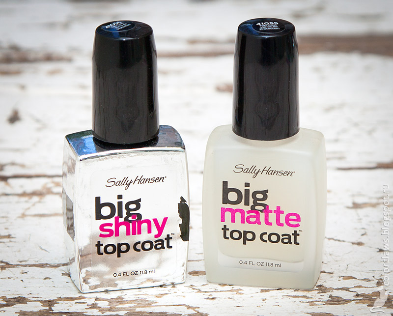 Sally Hansen Big Shiny & Big Matte Top Coat