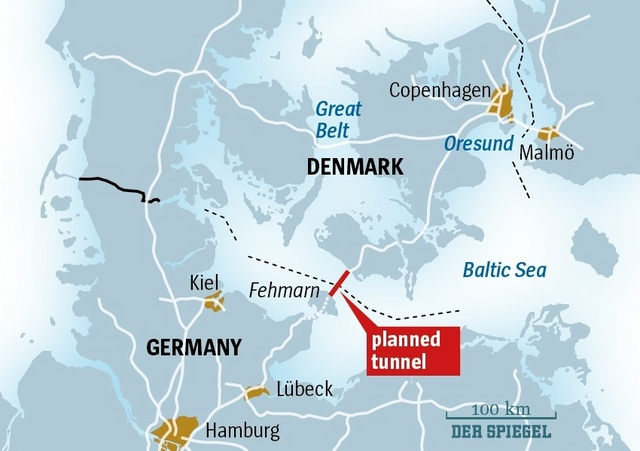 Denmark - Germany underwater tunnel