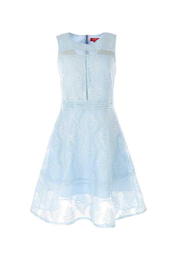 Γαλαζιο φορεμα δαντελα εισαγωγης !