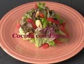 Ensalada con fresas y almendras