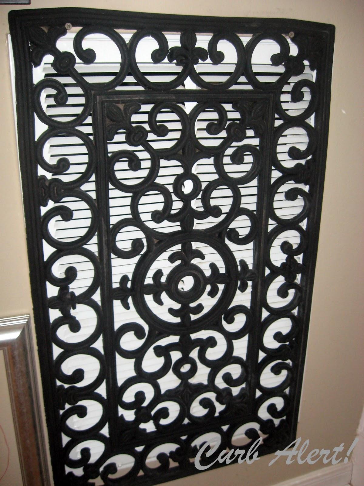 DIY Blog!: Repurposed Door Mat to Cover an Ugly Return Air Vent #7F6B4C