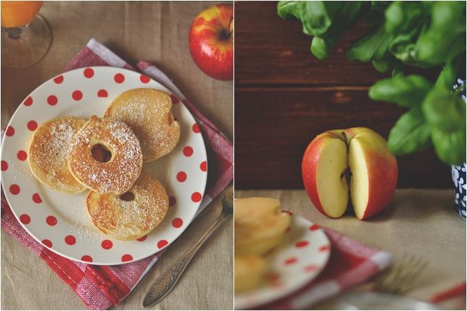 jabłka, plasterki, w cieście, smażone, prosty przepis, szybki