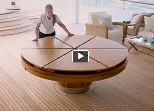 Expandable Round Dining Table The Fletcher Capstan