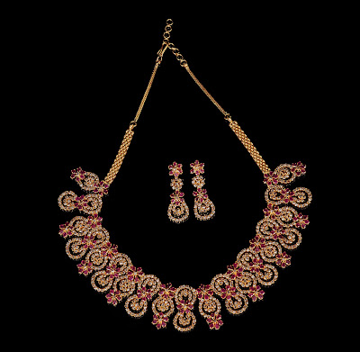 Ruby Diamond Necklace Sets