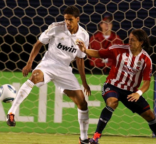 Varane played a sensational game against Chivas Guadalajara