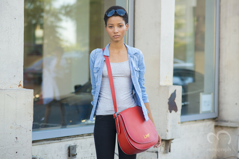 Model Lineisy Montero Feliz Carries Coach 2016 Spring Summer New Bag at New York Fashion Week NYFW