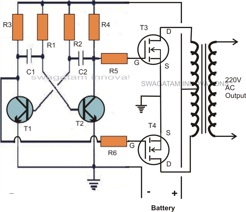 Diagram Furthermore 12V Inverter Circuit On 2000 Watt