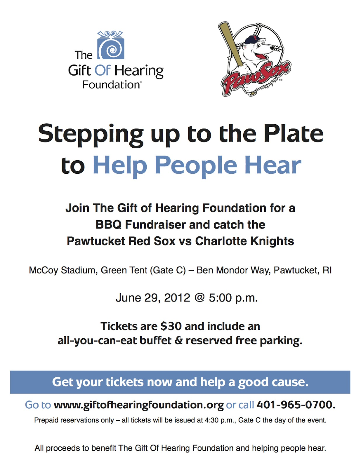 Fundraiser for The Gift of Hearing Foundation