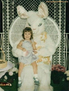creepy scary weird wtf vintage photo image easter bunny scary mascot