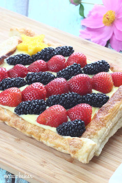 Everyone loves eating this strawberry and blackberry tart. I love making it because it's so easy to whip up!