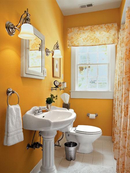 Intrerior Design Home American Cool Orange Bathroom Design Ideas