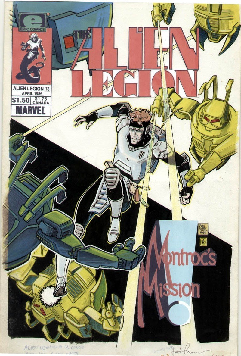 Marvel Comics of the 1980s: 1986 - Anatomy of a cover - Alien Legion #13