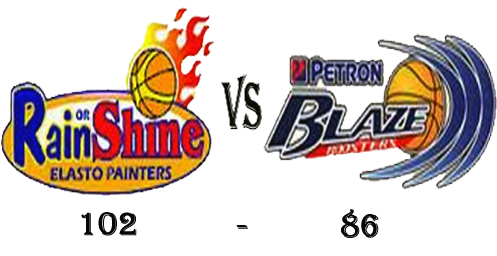 Rain or Shine wins in 2012-2013 PBA Cup Elimination round against Petron Blaze