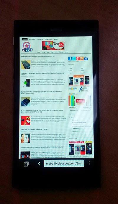 Browser BlacBerry Jakarta Z3