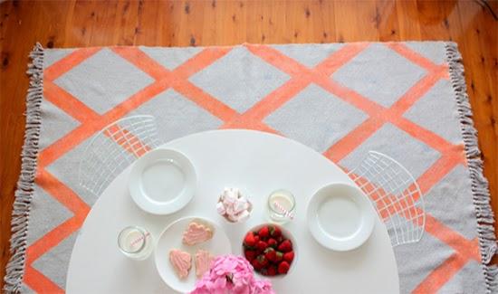 tapete com losango colorido