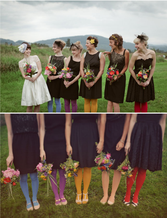 Collant per damigelle colorati, bridesmaids colored tights